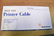 New Radioshack 26-403 IEEE 1284 Printer cable 12ft