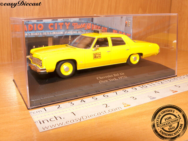 CHEVROLET BEL AIR TAXI CAB 1 43 NY YORK (USA) 1973 MINT Herregud