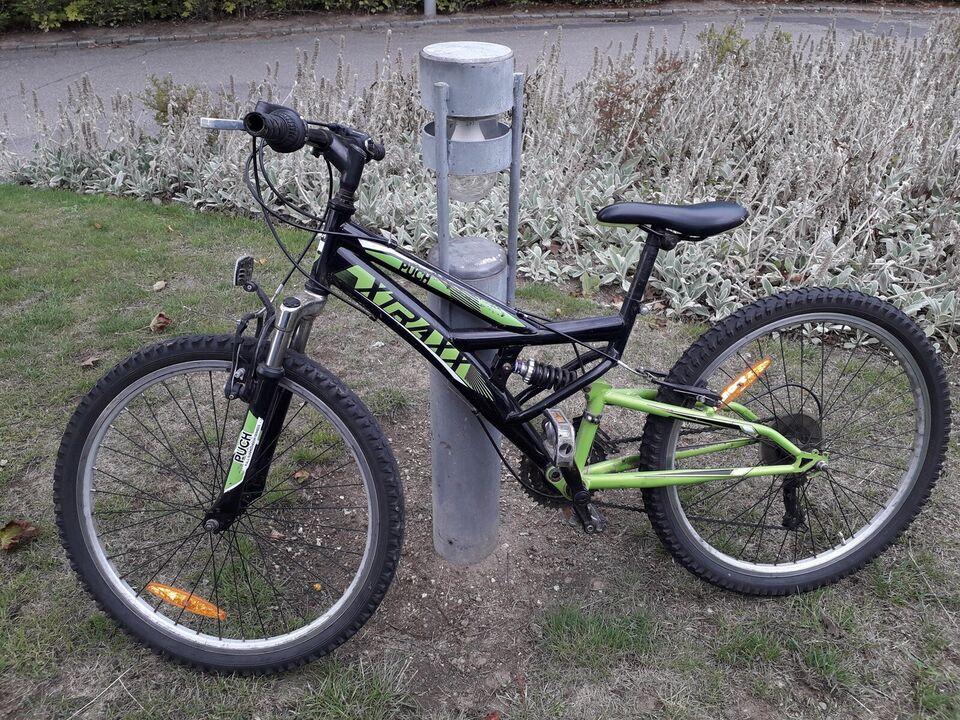 Drengecykel, mountainbike, 24 tommer hjul