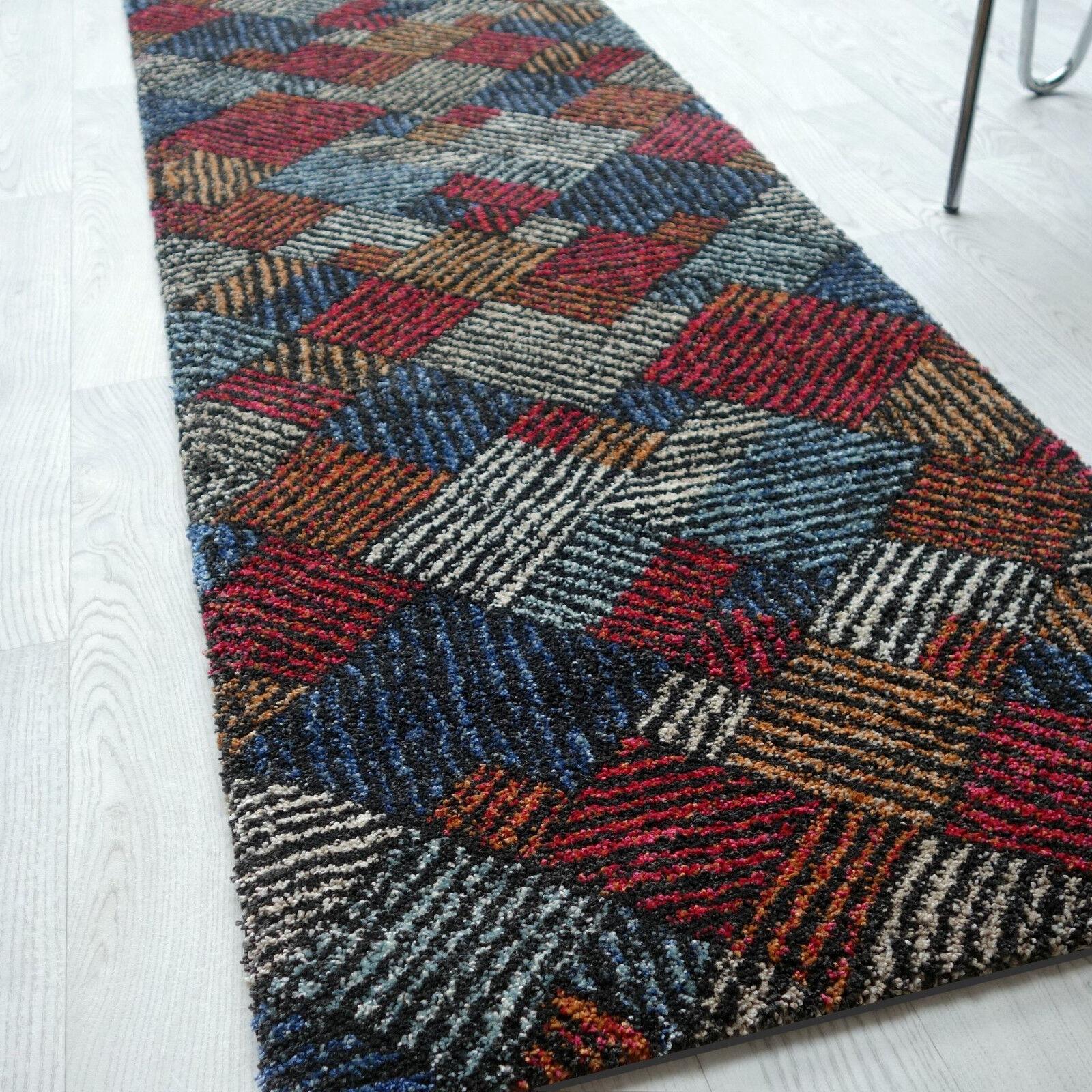 Gigante Tappeto lungo   Mehari Design MultiColoreeee   100 cm Larghezza Tessuto