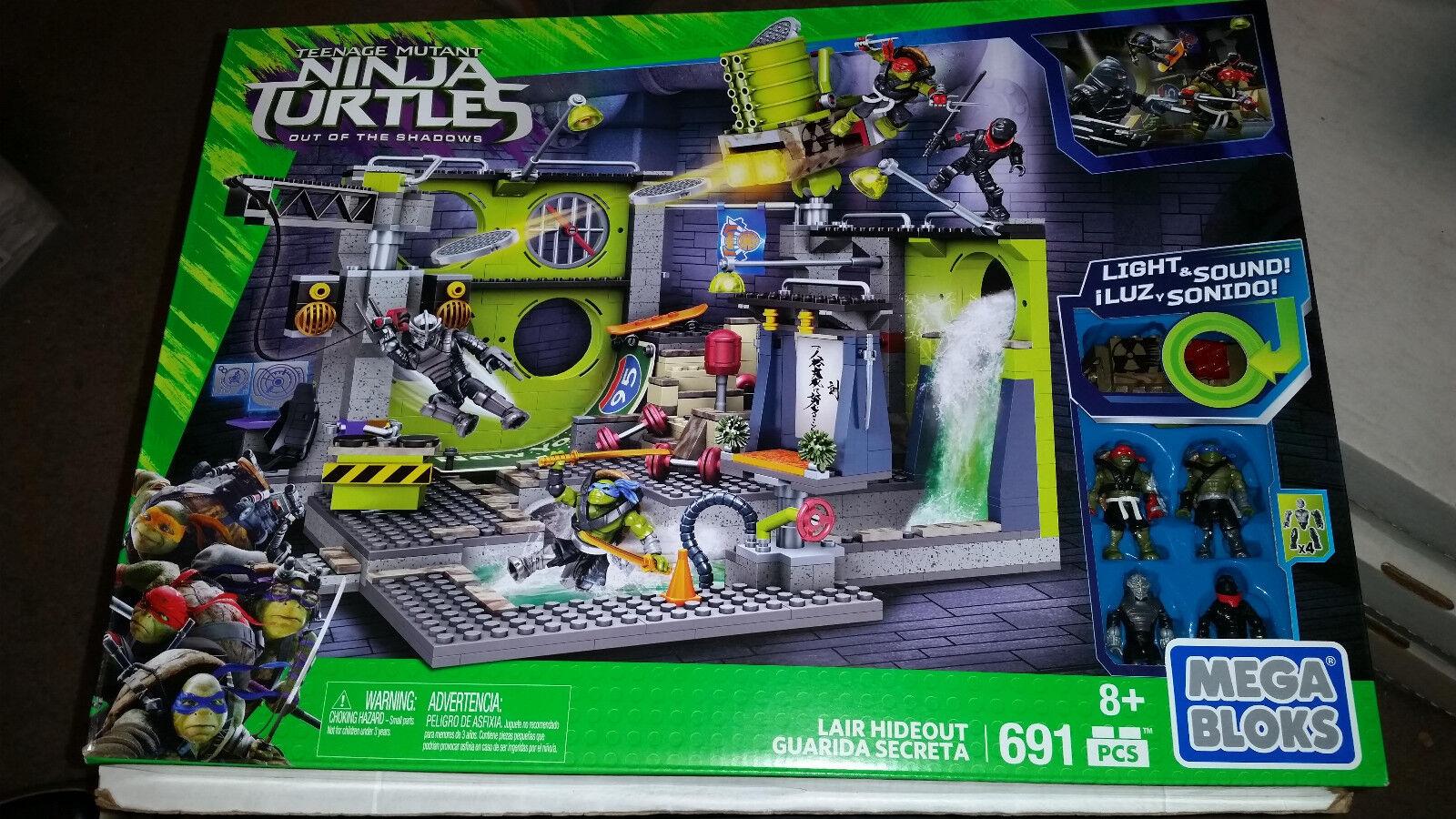Mega Bloks Teenage Mutant Ninja Turtles Lair Hideout Set 691 Pcs NEW SEALED