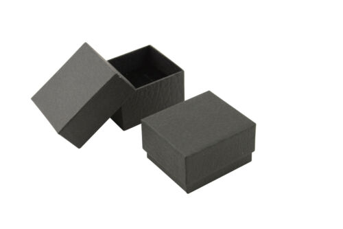 10 x Black Vibrant Series Ring Boxes Sturdy Cardboard Boxes Rings