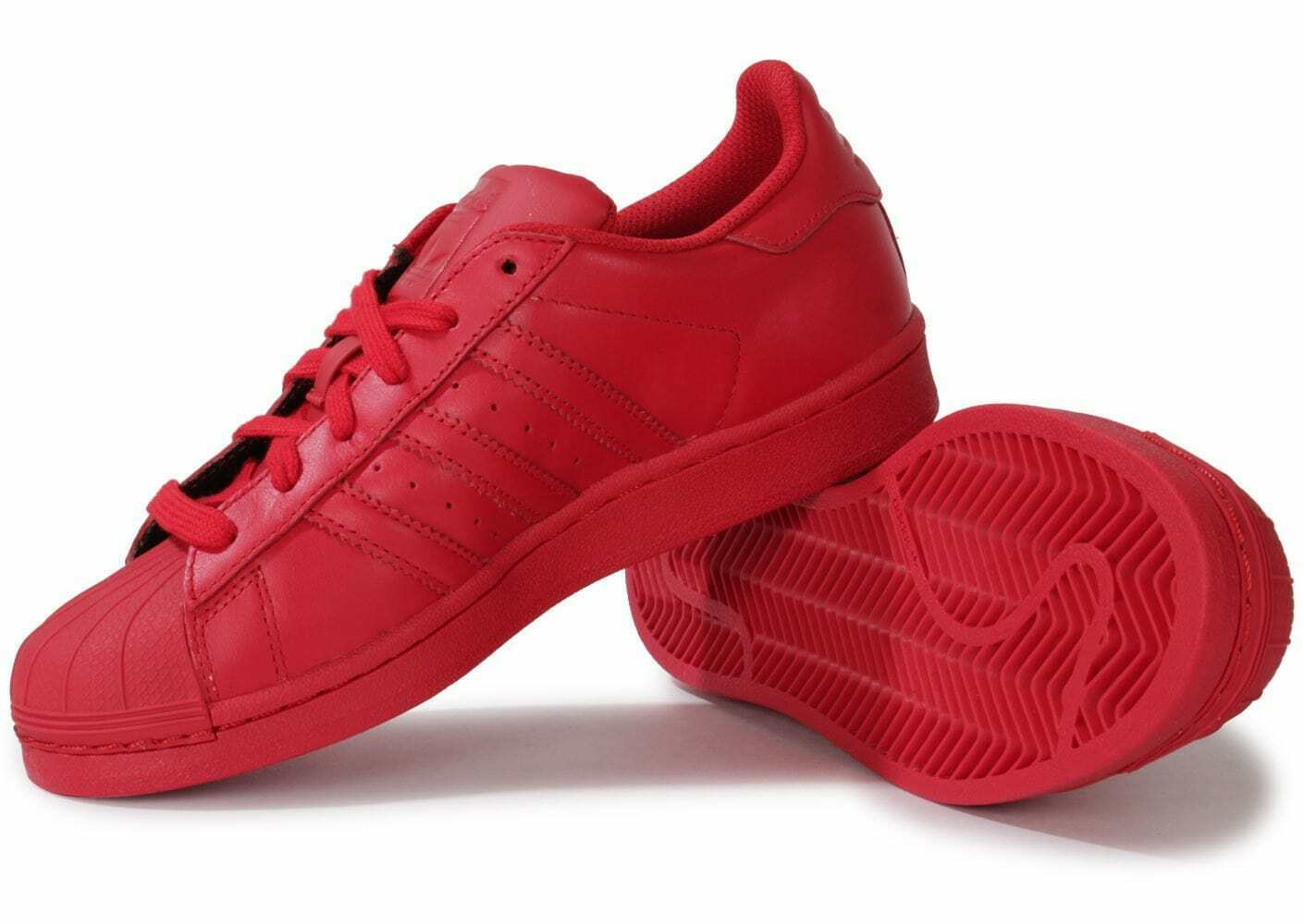 ADIDAS x PHARRELL WILLIAMS SUPERSTAR SUPERCOLOR IN RED SIZE 4.5 MALE