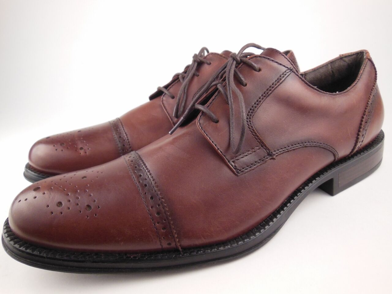CHAPS Hayward Brown Leather Oxfords Dress shoes Men's Size 13 M