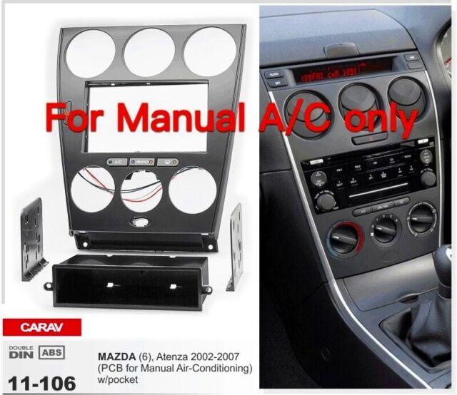 Car Stereo Fascia Dash Panel 2 Din Frame Trim Kit For Mazda 6//Atenza 2008-2012
