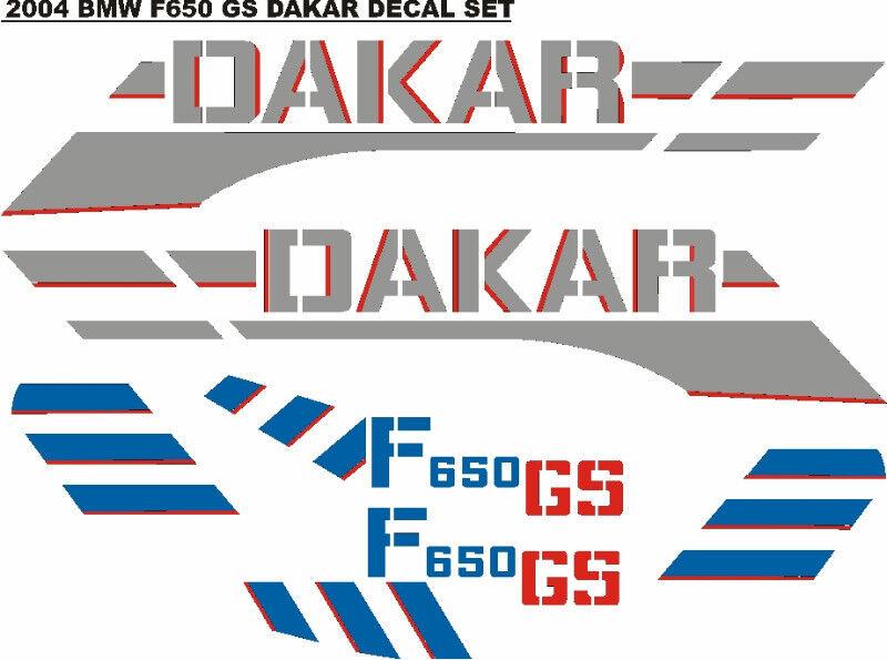2004 BMW F650 GS Dakar decals stickers graphics kits