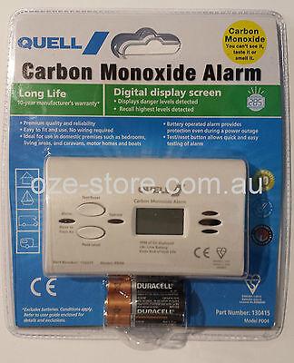 Quell Carbon Monoxide Alarm / Monitor (Digital Display) Model:PD04 Item:130415
