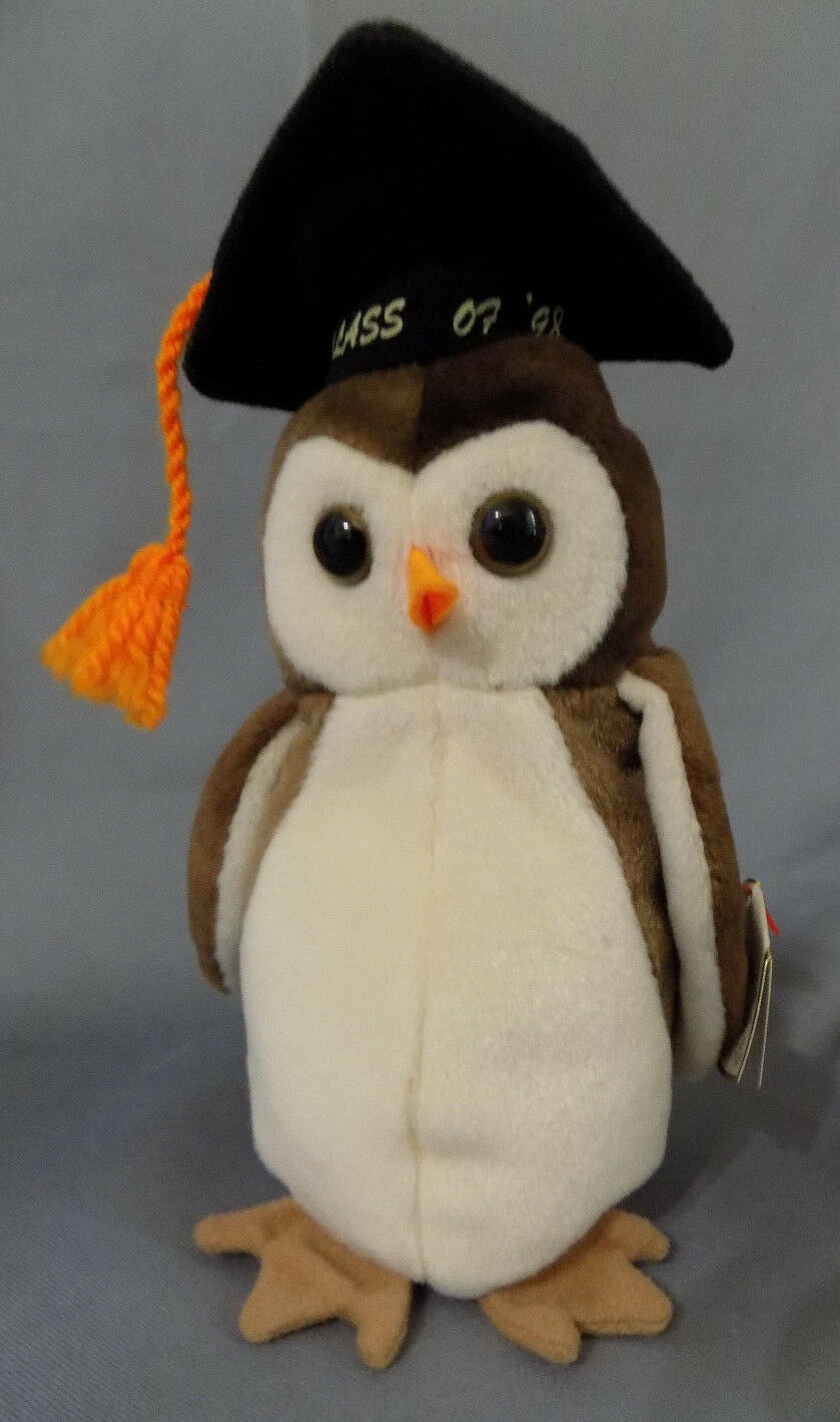 TY Beanie Baby WISE the owl Retired 1997 with errors oddities