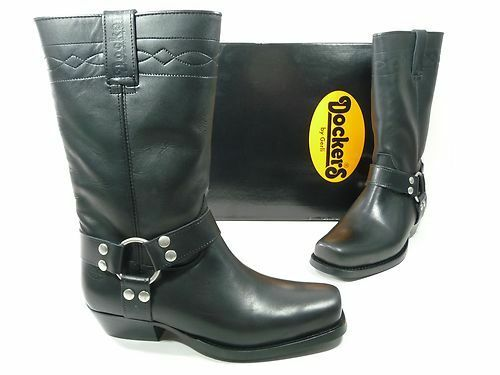 Dockers Biker Boots Boots Motorcycle Boots Boots Black Leather New