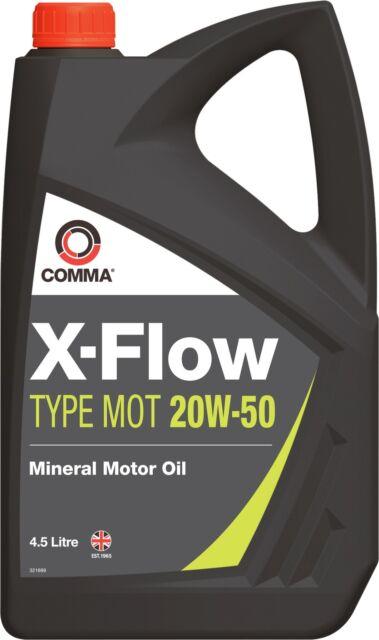 COMMA XFMOT1G X-FLOW TYPE MOT 20W50 MOTORWAY MINERAL MOTOR / ENGINE OIL 4.5 L