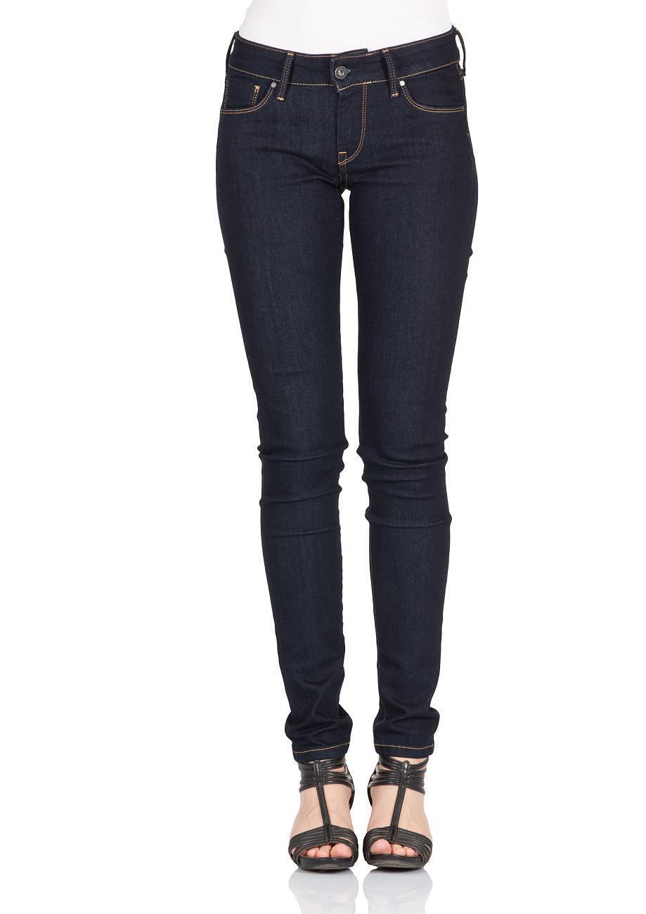 Pepe Jeans Damen Jeans Soho - Regular Fit - Blau - Rinse Plus