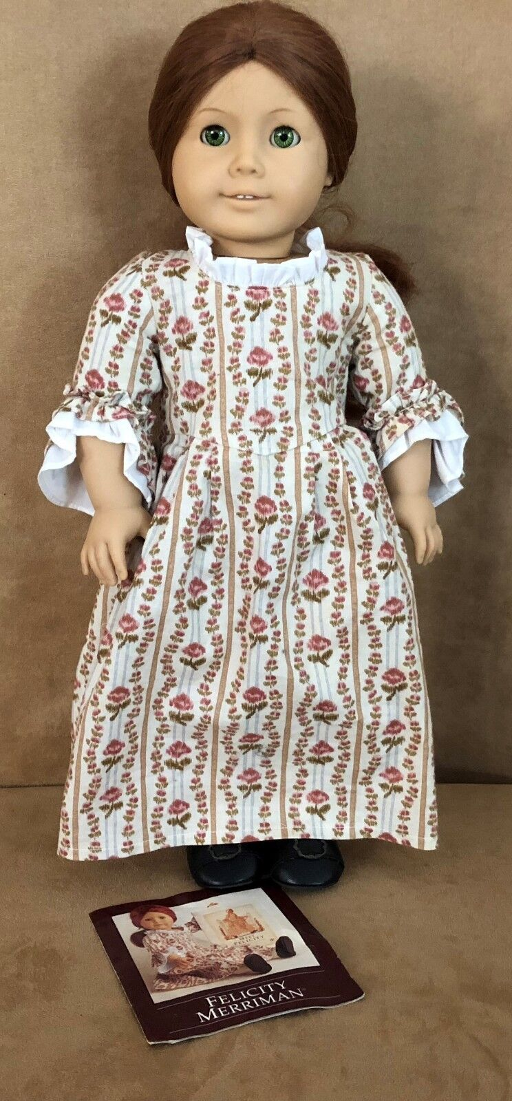 Felicity Pleasant Company American Girl Doll Meet dress pink Garden gown booklet