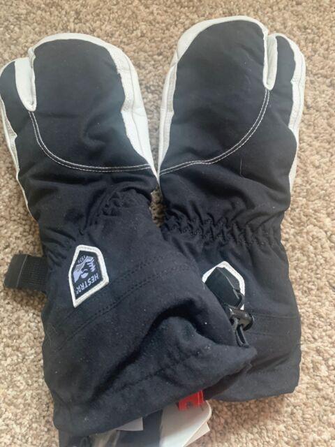 Hestra Army Leather Heli 3 Finger Ski Glove Black 5 For Sale