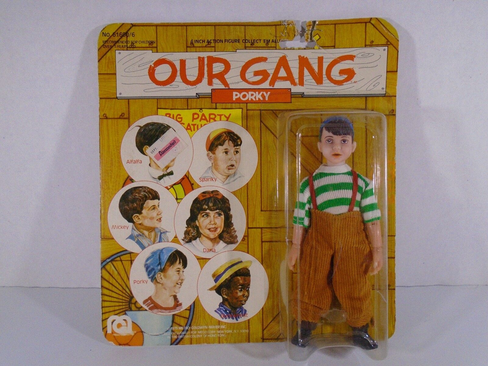 1975 MEGO CORP--OUR GANG--6  PORKY FIGURE  NEW