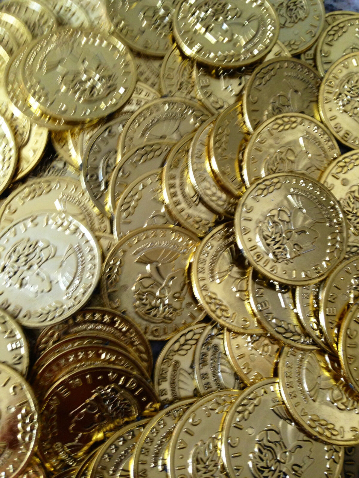 2000  Gold Play Coins Treasure Birthday Party Favor Loot Pirate Pinata Toy