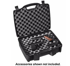 Plano® Padded 4-Pistol Case, Handgun Carry Storage, Hard Gun Box w/ Lock - Black