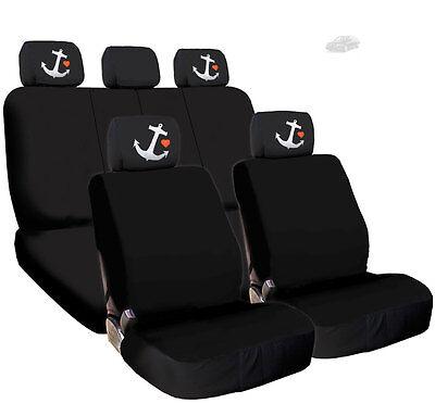 Gray Black 2 Pcs Audi Sline Logo Car Seat Fabric Headrest Covers Set for Audi Sline.