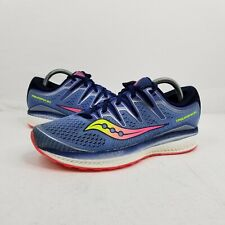 Saucony Women/'s Triumph Iso 5 Athletic Sneaker Blue//Navy