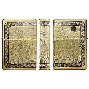 Zippo-Lighter-Symbols-of-Longevity-GD-Gold-Brass-Vintage-Emblem-Windproof-Gift