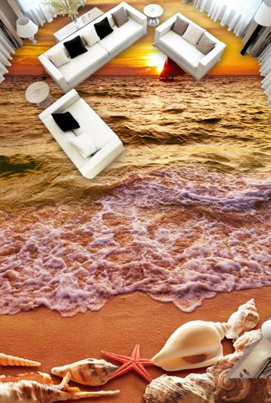 3D Strand 760 Fototapeten Wandbild Fototapete Tapete Familie DE Lemon