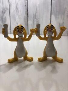 Lot-2-Disney-Winnie-The-Pooh-Rabbit-in-Garden-Hat-3-034-Tall-PVC-Figure
