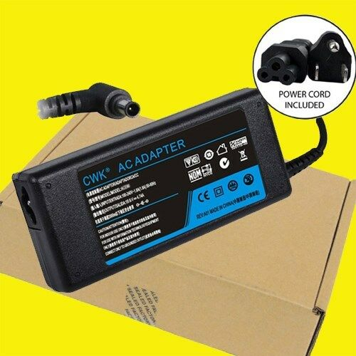AC Adapter Cord Charger Sony Vaio SVE14117FXB SVE141D11L SVE1411MFXB SVE141C11L