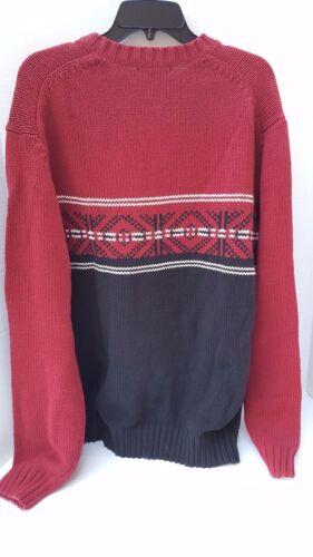 Nwt Cuello Old Xl Blanco Knit Rojo Sweater Negro Redondo Mens Nordic Nuevo Navy nq4xXrTq