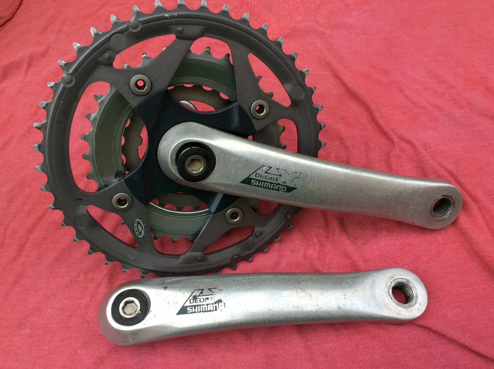SHIMANO DEORE LX BICYCLE 170mm 44 32 22 TOOTH CRANKSET FC-M570 in good condition