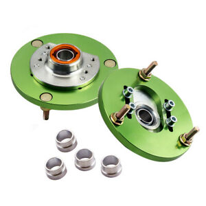 2 Pieces Camber Plate Plates Upper Mount for BMW 3 Series E46 1998-2005 Green