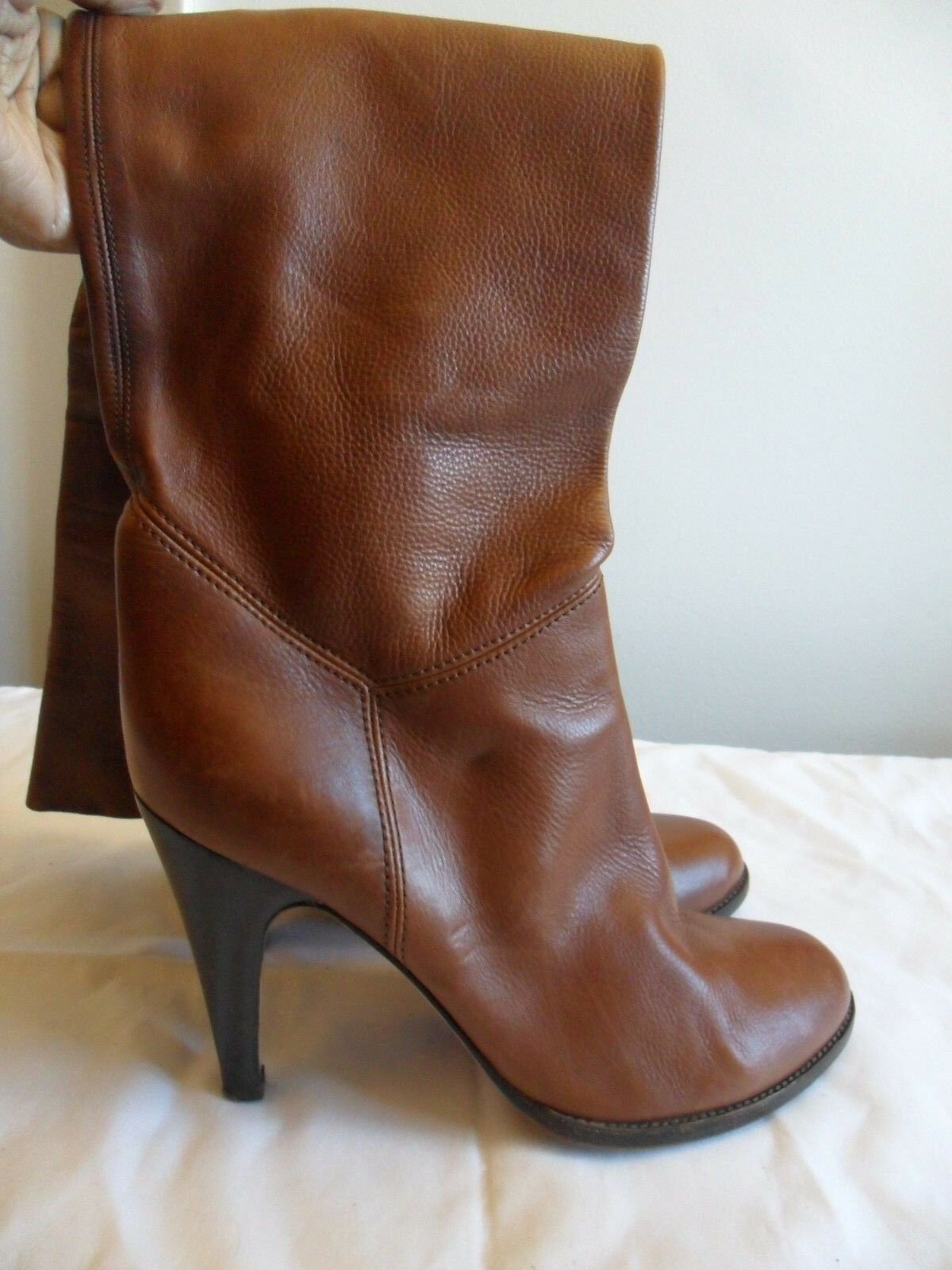 Vero Cuoio marron Leather Knee bottes, Taille 40 US 10