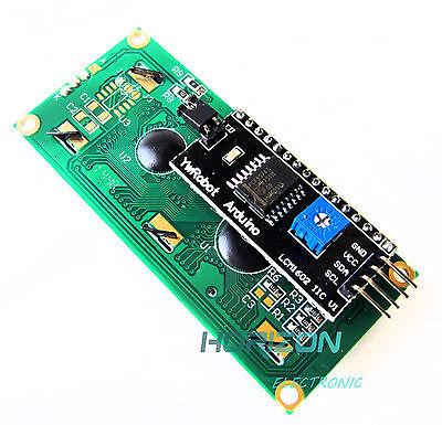 Yellow Display IIC/I2C/TWI/SPI Serial Interface 1602 16X2 LCD Module TOP