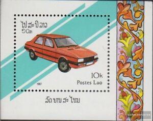 Laos-Block117-kompl-Ausg-postfrisch-1987-Autos