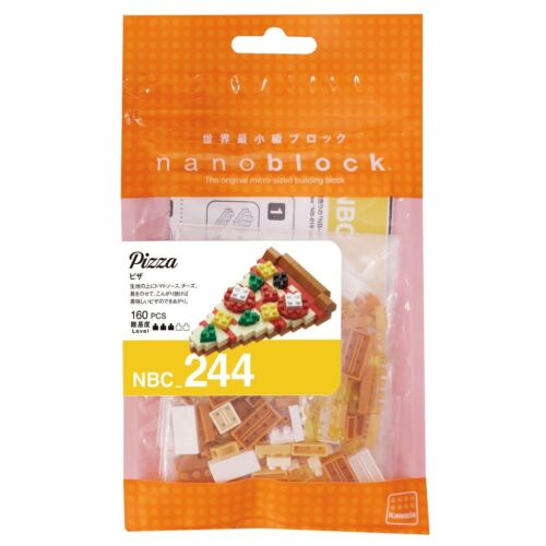 Nano Block Micro-Sized Building Blocks NBC-244 NEW NANOBLOCK PIZZA Food Series