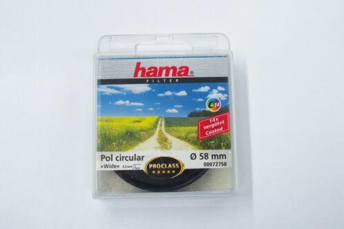 Hama filtro pol circular polfiter Wide 58mm Artículo nuevo
