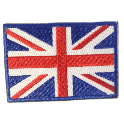 England Großbritannien 6,8 x 5 cm blau Aufnäher // Bügelbild