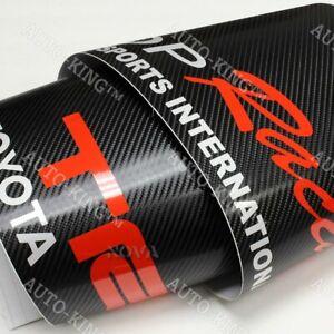 For-TOYOTA-Windshield-Carbon-Fiber-Vinyl-Banner-JDM-TRD-Racing-Decal-Sticker-53-034