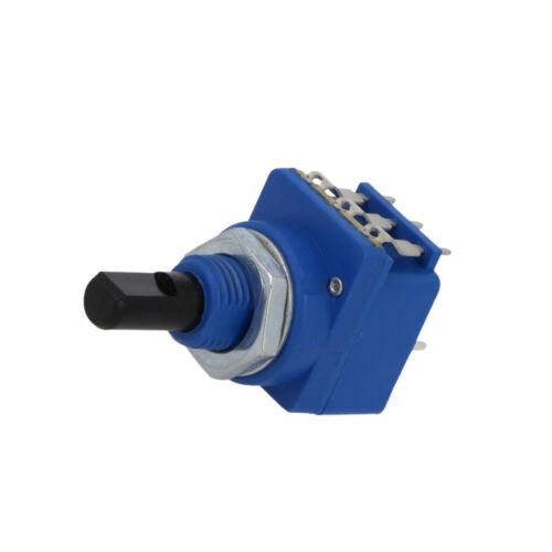 D Schnitt SR PA axial 10kΩ mit Druckschalter Achse WH16BK-1-B10K Potentiometer