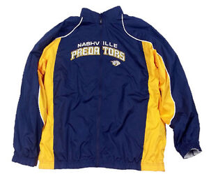 Reebok NHL Hockey Men's Nashville Predators Reversible Jacket, Navy