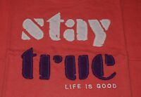 DIFFERENT NWT Women's Life is Good Classic Fit SS Scoop Neck Creamy Tee