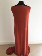 Smoked Paprika Crinkled  Woven Viscose Dressmaking Fabric