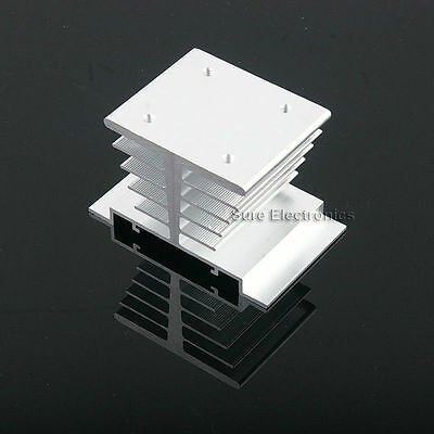 3x2inch Aluminum Alloy Heat Sink for 10W LED Silver White with M3