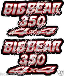 Big Bear 400 4x4 Red Gas Tank Graphics Decal Sticker Atv Quad 4wd 500 stickers