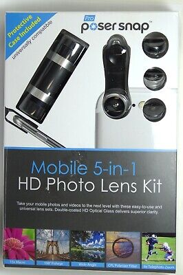 Poser Snap Pro - Mobile 5-in-1 HD Photo Lens Kit (8X Telephoto Lens and  more) 856300006439 | eBay