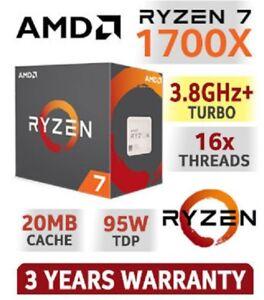 Amd Ryzen 7 1700x 3 4ghz 8 Core Am4 Boxed Processor Yd170xbcaewof