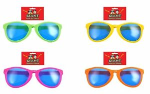 28cm Giant Big Face Glasses Assorted Colours Hen Stag Party Joke Fun Fancy Dress