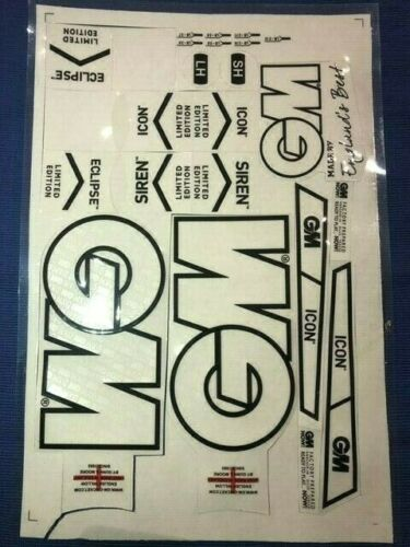 GN 3D EMBOSSED CRICKET BAT STICKERS