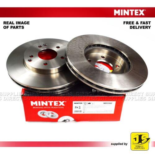 2X MINTEX FRONT DISC BRAKES MDC852 FOR MERCEDES-BENZ C CLC-CLASS CLK E-CLASS SLK