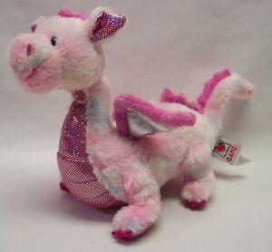 Ganz-PINK-SHINY-WHIMSY-DRAGON-11-034-Plush-STUFFED-ANIMAL-Toy-Webkinz