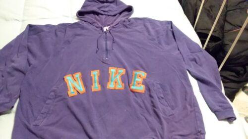 Vintage-1990s NIKE  - half zip Hoodie -  Sweatshir
