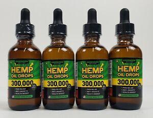 4 bottles of Greengen hemp oil for pain relief 60 ml, 300,000  Made in USA